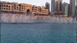 Dubai Fountains near Dubai Mall, Burj Khalifa