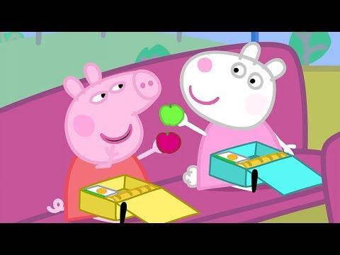 Peppa Pig Full Episodes   School Bus Trip    Cartoons for Children