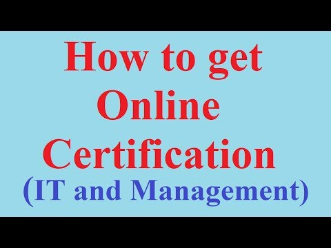 How to get Online Certification Course in any Subjects(IT, management etc)