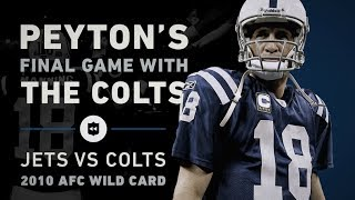 Peyton Manning's Final Game as a Colt Revives A History of Heartbreak | NFL Throwback