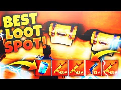 BEST *SECRET* LOOT SPOT in FORTNITE! BEST Place to Land for EASY WINS! (Fortnite Battle Royale)