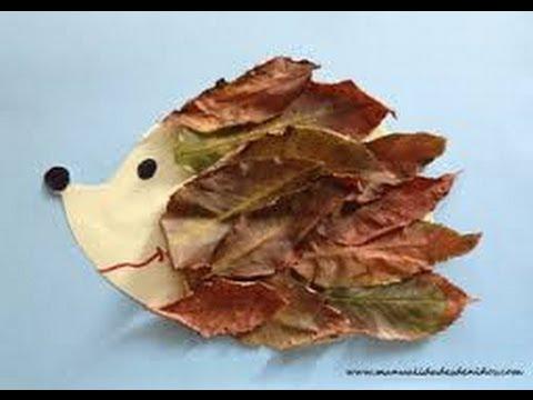 manualidades con hojas secas para hacer con los ni os