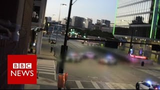 """Dallas Police Shooting: """"There's a sniper out there"""" BBC News"""