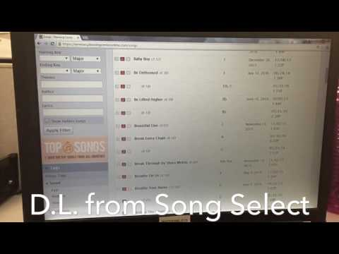 Downloading Chord Charts from Song Select in PCO