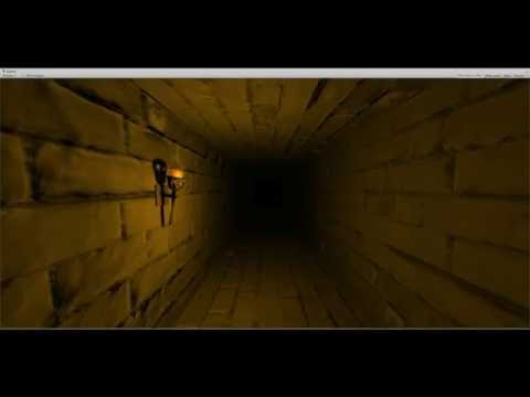 Walking around a dungeon generated in Procedural Dungeon Toolkit