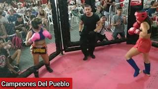 🥊Candela Ibañez Vs Agustina Correa - KICK BOXING - AMATEUR - Campeones Del Pueblo - Siempre Humilde