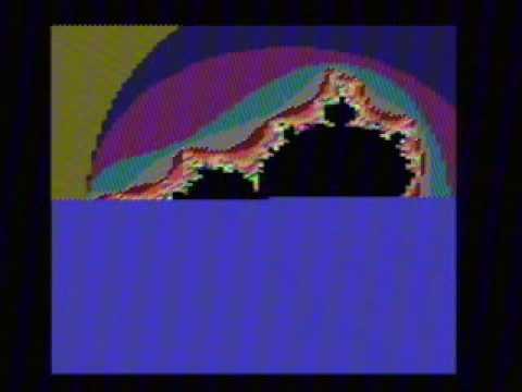 BBC Micro mandelbrot set generator
