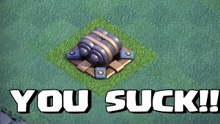 THE NEW CANNON SUCKS!! | Clash of clans | TROLL ATTACKS
