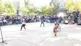 Santa Fe Indigenous Day Commemoration 2018 -  Tiny Tots  Hoop Dance Pojoaque Pueblo
