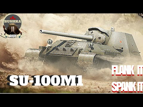World of Tanks Blitz   Su 100M1 Tier IX gun on a Tier VII tank