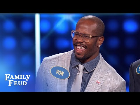 VON MILLER does EVERYTHING sexier... even WHAT? | Celebrity Family Feud  | OUTTAKE