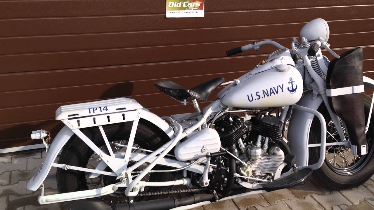 Harley Davidson WL45 US NAVY Flathead - YouTube