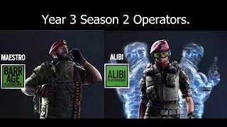 PS4 Year 3 Season 2 Rainbow Six Siege Operators