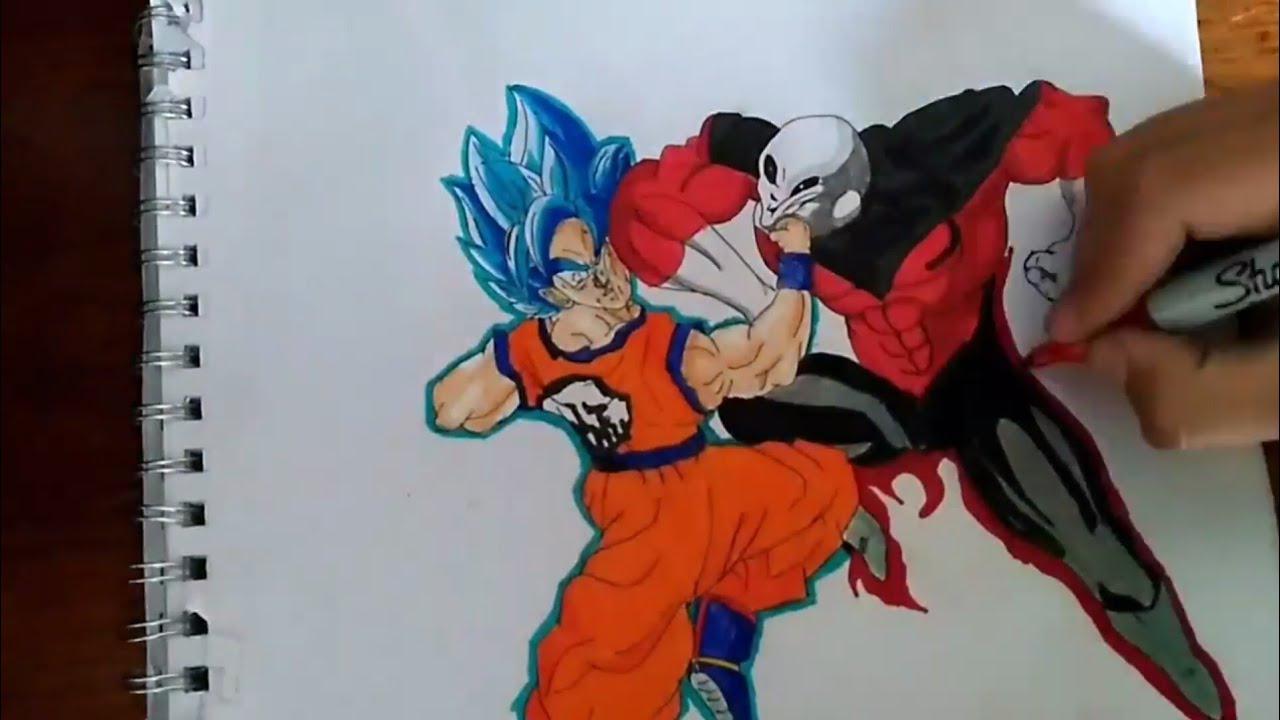 Goku Ultra Instinct Para Colorear