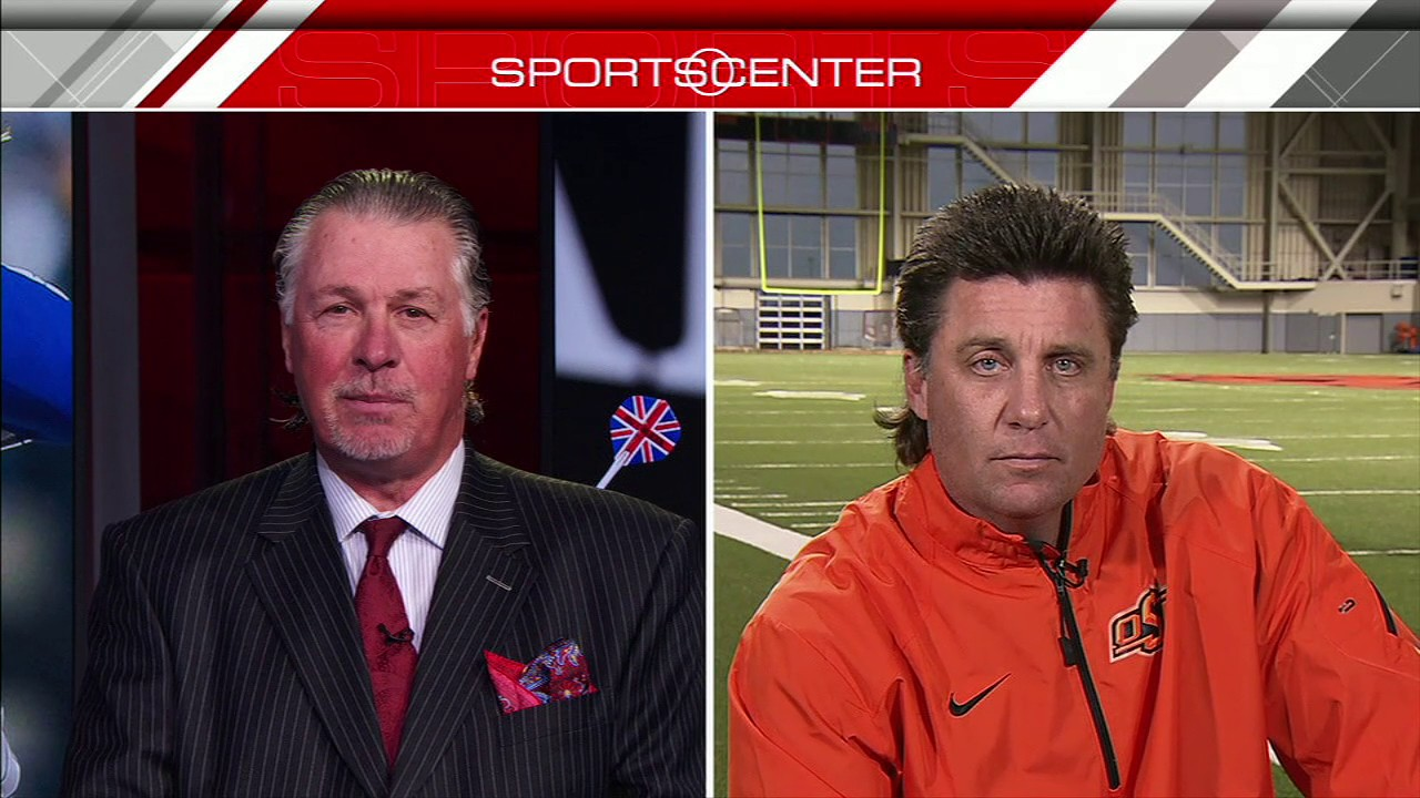 Osu Head Coach Mike Gundy Says Hair Worth Millions Espn