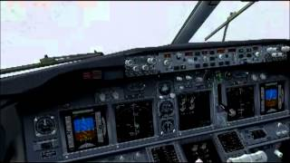 FS2004 Vienna (LOWW) low visibility landing Austrian Airlines B738w