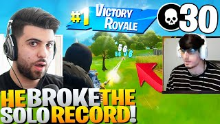 My brother BROKE the Solo Elim Record in Arena! - Fortnite Battle Royale
