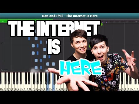 The Internet Is Here Piano Tutorial - Free Sheet Music (Dan and Phil)