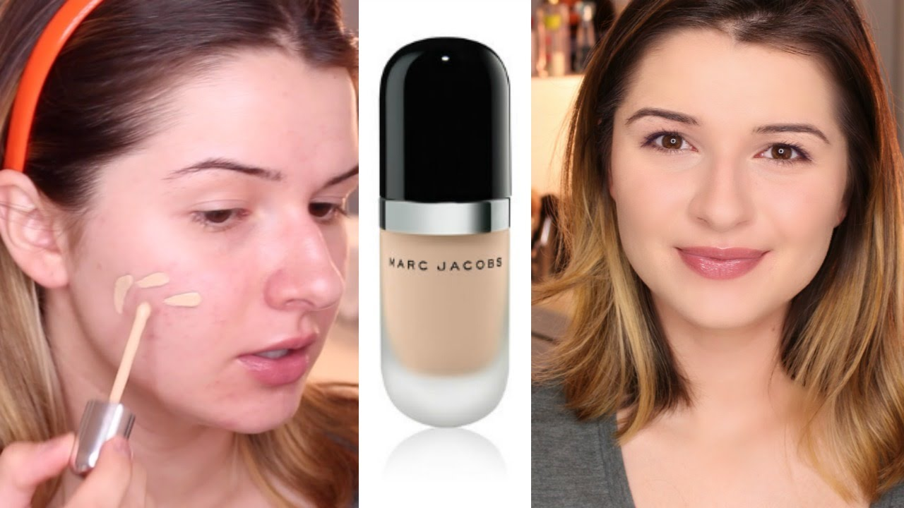 Marc Jacobs Remarcable Foundation Review Acne Scarring Youtube
