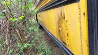 57 chevy found inside school bus