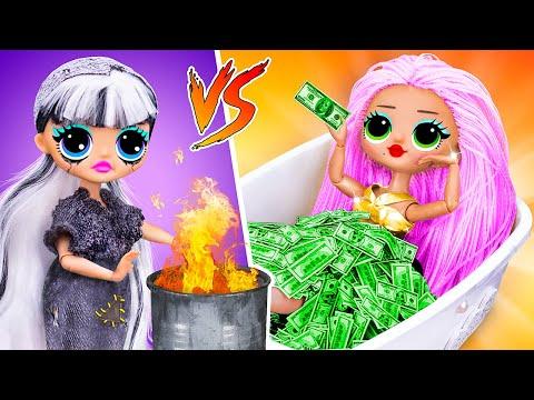 Rich Doll Vs Broke Doll / 10 DIY LOL Surprise Ideas