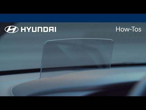 How to Use the Heads-up Display Feature   Kona   Hyundai