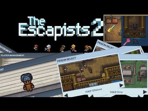 Escapists 2 Part 17 - Woodworking Job is OP H.M.P. Offshore