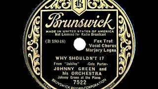 1935 Johnny Green - Why Shouldn't I? (Marjory Logan, vocal)