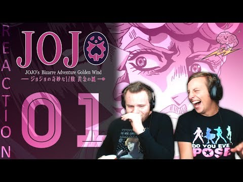 SOS Bros React - JoJo's Bizarre Adventure Part 5 Episode 1 - Giorno Giovanna!