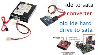 how to convert your old IDE  hard drive to a  SATA device. in telugu