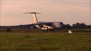 Lockheed Galaxy  C-5 take off after engine repair.