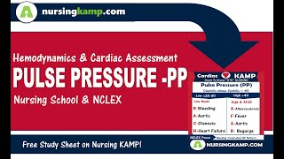 What is a Pulse Pressure Cardiac Hemodynamics  Nursing KAMP NCLEX 2019