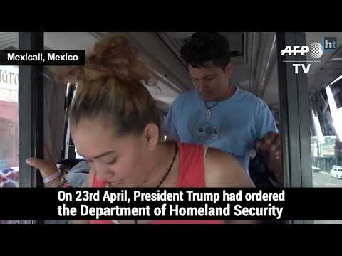 Despite Trump's warnings, around 100 migrants arrived at the US-Mexico border