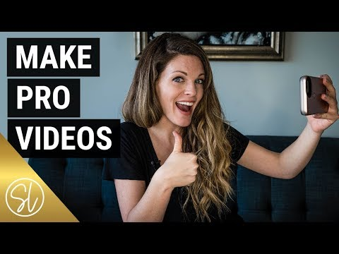 HOW TO MAKE PROFESSIONAL VIDEOS (AT HOME WITHOUT PRO GEAR!)
