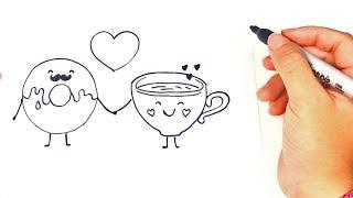 Cómo dibujar unos Enamorados | Dibujos de Amor | Dibujos Románticos