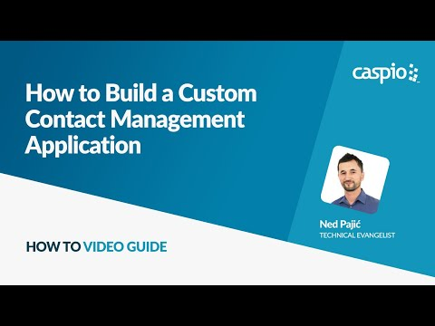 How to Build a Custom Contact Management Application