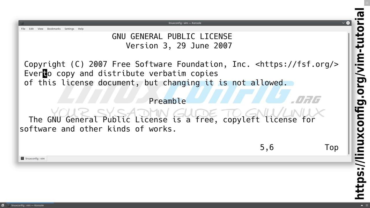 4c95bba8f3c352 Vim Tutorial - LinuxConfig.org