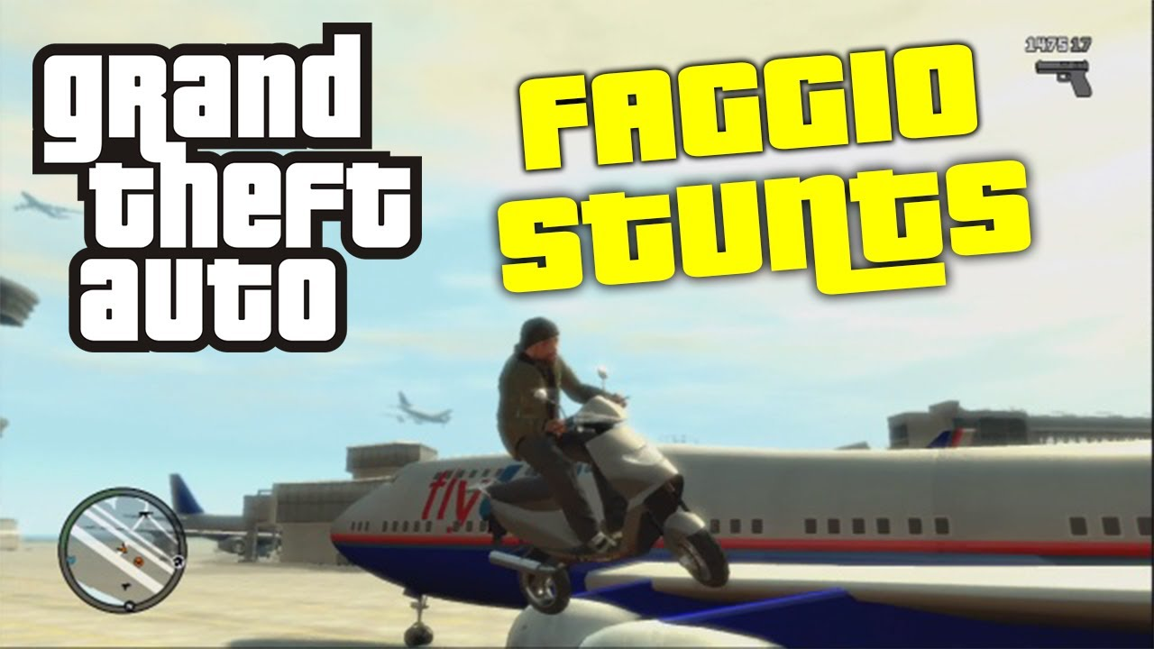 GTA Funtime - Faggio Stunts! (Grand Theft Auto) - Tearing up the streets of liberty city with a faggio. Keen for GTA 5!