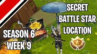 Fortnite Season 6 Week 9 Secret Battlestar/Battle Flag Location (Hunting Party Challenges)