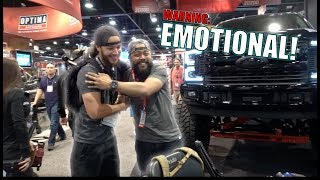 WE GAVE HIM A HUGE SURPRISE AT SEMA!