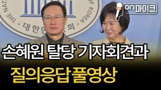 손혜원 민주당 탈당 기자회견과 질의응답