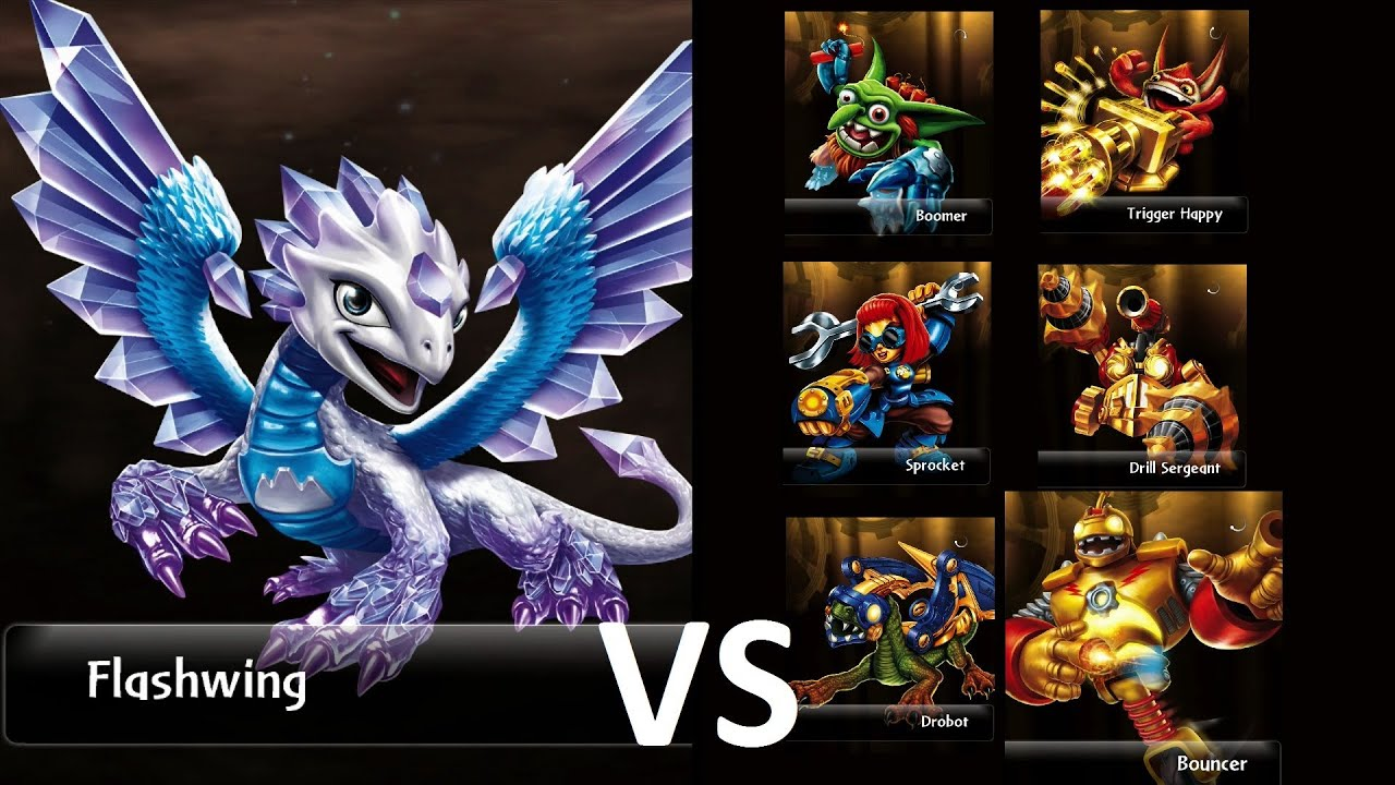 Skylanders Giants Arena Rumble Survival Flashwing Vs Alle