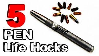 5 Life Hacks & Gadgets with Pens & Pencils