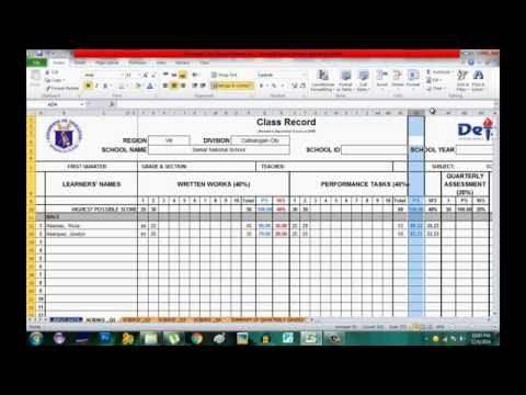 How to to use K to 12 Electronic Class Record for Science