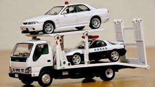 待っていたこの車両!トミカ リミテッドヴィンテージネオ いすゞエルフ 花見台自動車 セフテーローダービッグワイド LV-191a 2台積載・繊細なギミック