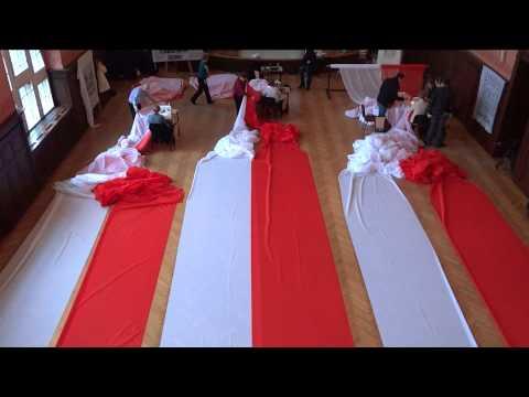 Szycie najdłuższej, biało-czerwonej flagi (Szczecin)