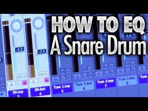 how to eq a snare drum drum lessons youtube. Black Bedroom Furniture Sets. Home Design Ideas