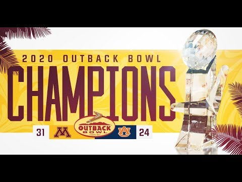 Gopher Blog - Highlights: Gophers Defeat Auburn 31-24 in Outback Bowl | #KFANGophers