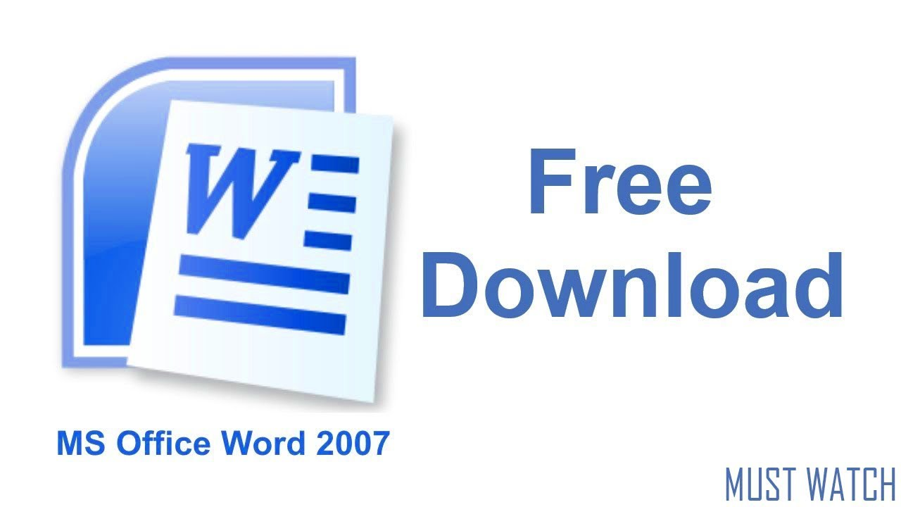 download free microsoft office word 2007