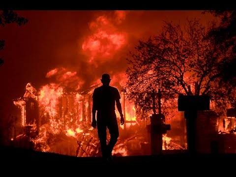 WILDFIRES In Napa Santa Rosa , California Sonoma ,Canyon Fires Burn